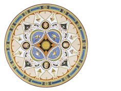 French 19th century émail sur lave de Volvic circular table top circa 1835, executed by Hachette et Cie, probably designed by Jacques Ignace Hittorf (32in in diameter, 28in high).