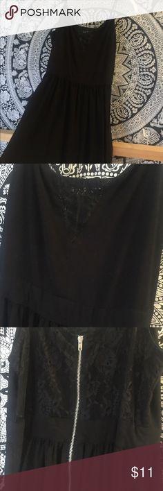 Black Lace Cutout Dress Black lace mini dress worn once H&M Dresses Mini
