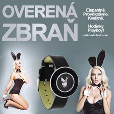 Overená zbraň! S hodinkami Playboy nemáš čo riskovať ;) teraz novinka v e-shope! #hodinky Playboy, Smart Watch, Watches, Smartwatch, Wristwatches, Clocks