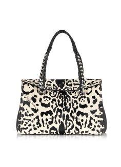 1ff8a108f921bc Roberto Cavalli Regina Small Animal Print Leather Satchel $2,035.00 Actual  transaction amount
