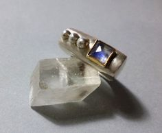 Sterling silver ring, 14K gold and rainbow moonstone | Sparkle Efrat Shifrin | My Stores
