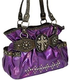 Beautiful Purple Western Purse
