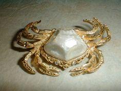 vintage trifari gp enameled metal belly by fadedglitter42263, $78.00