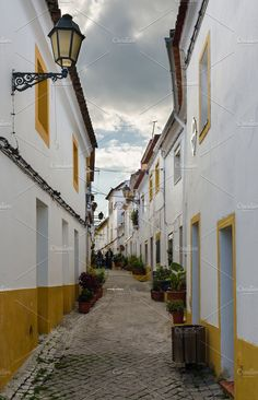 Streets of the typical town of Elvas by Fotoeventis on @creativemarket