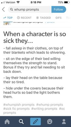 Sick writing // character tips writing prompts советы по нап Book Writing Tips, Writing Words, Writing Resources, Writing Help, Writing Skills, Writing Ideas, Writing Inspiration Prompts, Writer Prompts, Dialogue Prompts