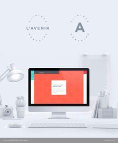 Dental clinic web design. Mac Computer work station. All white design.