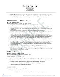 Real Estate Agent Resume Entrancing 319 Best Resume Examples Images On Pinterest
