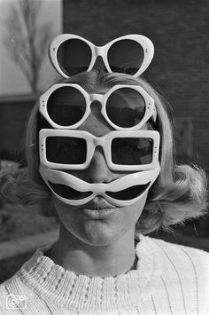 Vintage 60's sunglasses designed by Dutch designer, Jan Oostman.