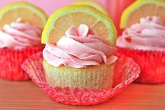 Blushing Lemon-Topped Cakes - These Raspberry Lemonade Cupcakes are Wonderfully Flirty