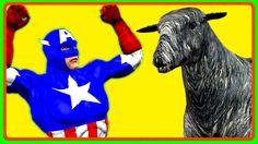 Captain America Cartoons Rhymes for Children | Baa Baa Black Sheep Baby ...