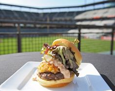 The Gino's folks teamed up with Delaware North Companies Sportservice to create the Camden Giant, a burger-and-crabcake combo that will be sold exclusively at Camden Yards.