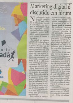 1º Fórum de Marketing e Inovação de Pernambuco no Jornal do Commercio