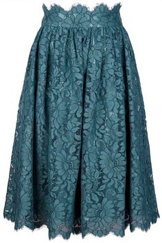 Floral Lace Skirt - Lyst