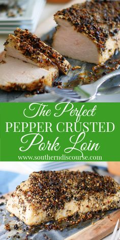 This straightforward to comply with pepper crusted pork tenderloin recipe makes use of a splendidly fragrant cracked peppercorn rub and dijon mustard to create a pleasant foremost dish that's good for household meals or Crusted Pork Tenderloin Recipe, Pork Loin Recipes Oven, Turkey Tenderloin, Rub Recipes, Oven Recipes, Recipes With Pork Loin Steaks, Pork Chops, Pork Tenderloin Rub, Baked Pork Loin