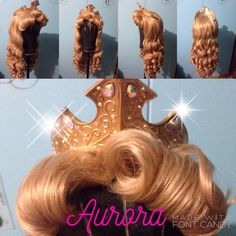 New Parks Style inspired Sleeping Beauty Wig by C80sThingamabobs