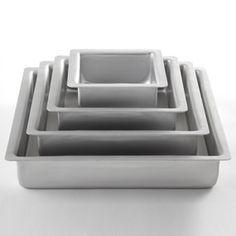 Shop Fat Daddio's Square Anodized Aluminum Cake Pan Set, 4-piece at CHEFS.