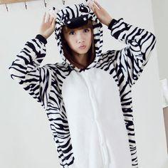 Cebra Onesies caliente de la franela pijamas Animal Pinto camisa de dormir una sola pieza Femme lindo de la historieta ropa de noche mujeres Pijama más el tamaño en Pijamas Completos de Moda y Complementos Mujer en AliExpress.com | Alibaba Group
