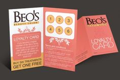 Loyalty Card Design - 2 page spread to list sponsors?
