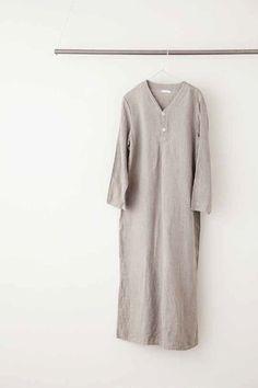 Crick & Watson - Spica Night Shirt Fog Linen, Short Sleeve Dresses, Dresses With Sleeves, Minimal, Tunic Tops, Night, Shirts, Beautiful, Women