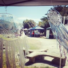 Apollo Bay Markets  Dream catchers blowing in the breeze #apollobay #markets #local #handmade #dreamcatcher #greatoceanroad #GOR #VIC #victoria by healthandmelbeing