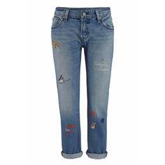 LEVI'S Boyfriend-Jeans »501« blau