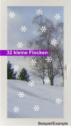 Weihnachtsdeko - Schneetreiben - Klein - Fenstertattoo - ein Designerstück von CatrinKerschl bei DaWanda