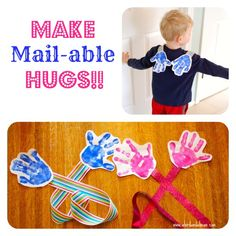 DIY Mail-able Hugs! - Great gift or thank you to parents, grandparents and more!