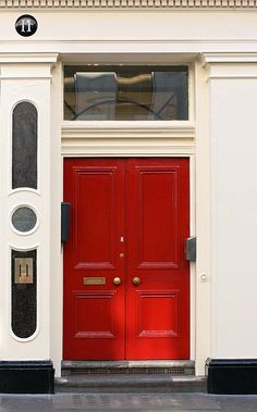 "I have always adored Red doors on homes! I even started to write a book called ""Behind The Red Door"" gotta finish that one day haha ~Liz"