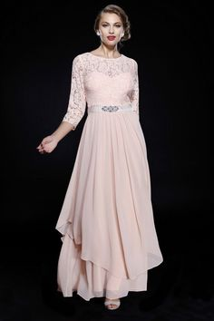 This elegant long mother of the bride/groom dress features an A-line 3/4 sleeve with embellished lace applique bodice. This dress is perfect for wedding or any special occasion. Fabric: Chiffon Closure : Zipper Back Sleeve Style : 3/4 Sleeve Length : Full Length Colors : Teal, Peach, Sapphire Sizes : M, L, XL, 2XL, 3XL, 4XL Fully Lined Soft Cup Inserts Occasion : Formal, Evening Party, Mother of the Bride, Mother of the Groom, Church, Wedding Guest