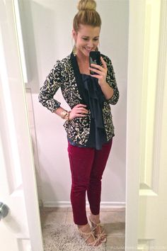 Sam ipsa Loquitur: Outfit of the Day   Burgundy, Navy, & Wishful Thinking