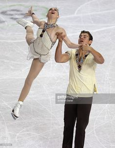 Haven Denney and Brandon Frazier compete in the Pairs Free Skating during the 2014 Hilton HHonors Skate America competition at the Sears Centre Arena on October 26, 2014 in Hoffman Estates, Illinois.