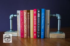 Industrial Galvanized Bookends by IndustrialHouseware on Etsy