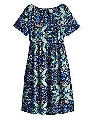 Folk Print Smock Dress - Regular