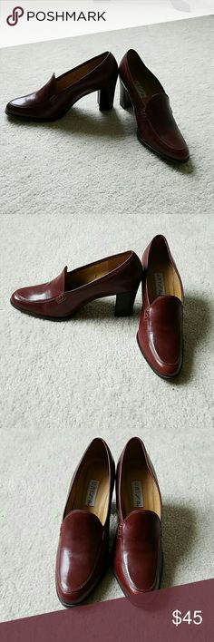 Unisa cordovan brown brogues Classy cordovan brown slip on brogues with a three inch perfect to rock business attire or dressed down for jeans! Unisa Shoes Heels