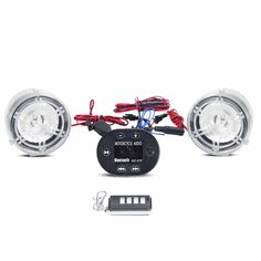 INNOGLOW Motorcycle LED Speakers Bluetooth Anti-theft Handlebar Radio Audio Amplifier Stereo Sound System with FM Radio and Player USB/TF for Motorcycle treet Bike cooter Cruiser Chopper (Clear) Bluetooth Gadgets, Bluetooth Speakers, Stereo Amplifier, Led, Car Videos, Audio System, Car Audio, Motorcycle Accessories, Radios