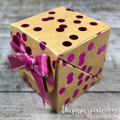 Diagonal Closure Treat Box with Video Tutorial - The Paper Pixie