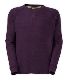The solution to everyday layering under flannels, this midweight henley has a soft, garment-washed finish for all-day comfort. #giftsforhim