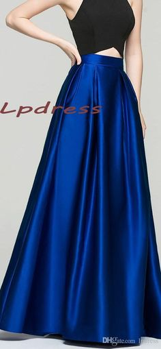 2017 Top Quality Satin Royal Blue Skirts Long With Pockets Skirts High Quality Long Satin 2016 Fall Winter Skirts Burgundy,Coral,Champagne From Lpdress, $46.7 | Dhgate.Com