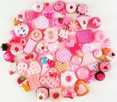 Pink Sweets Deco Kawaii Cabochon Mix Assorted Decoden Miniature Sweets Cabochon Set Polymer Clay Sweets Cellphone Deco (50 pcs) - 004 on Etsy, $16.99