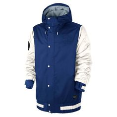 Nike Snowboarding 2015 Hazard (Deep Royal Blue/Ivory/Deep Royal Blue) Men's Snowboard Jacket $219.99