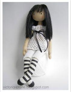Выкройки текстильной куклы девочки