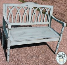 How great is this bench done in Websters and Behr Springstream? Just clean with simple green and get to painting! I finished this piece with a stain and polycrylic. www.facebook.com/diamondintheroughms you can order Websters at www.diamondintheroughms.com