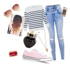 """""""back to school :)"""" by zuzana-zidekova ❤ liked on Polyvore featuring HANIA by Anya Cole, Converse, Casetify, Pamela Love and Aéropostale"""