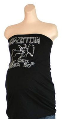 This website, Rock Star Moms has the cutest Classic Rock inspired maternity clothing!