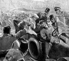 archduke franz ferdinand and sophie on the day of his assaintaion - Google Search  This picture shows Archduke Franz Ferdinand  and his wife Sophie in the back of his car in the middle of the city looking at their assassin right before he killed both Sophie and the Archduke.