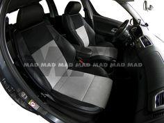 Alcantara® IL silver + Alcantara® Perfo black + Leather Look black