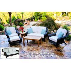 Darby Home Co Fleischmann Sofa 6 Piece Deep Seating Group with Cushion Fabric: Montfleuri Sangria, Wicker Finish: Java