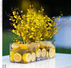 Incorporate lemons in the decor for a splash of whimsy.