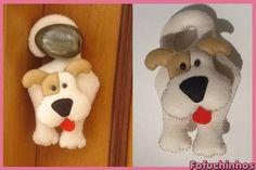 Cachorro de maçaneta. Confeccionado em feltro. Feito totalmente a mão. Ótima opção de decoração... Contato para dúvidas e orçamentos... fofuchinhos@r7.com