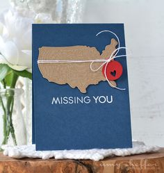 Missing You Card by Amy Sheffer for Papertrey Ink (July 2016)